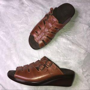 SAS Women's Brown Open Toe Sandals